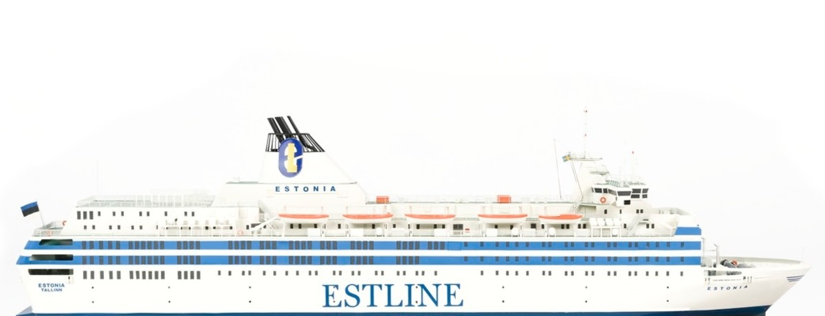 Model of MS Estonia at the Swedish Maritime Museum