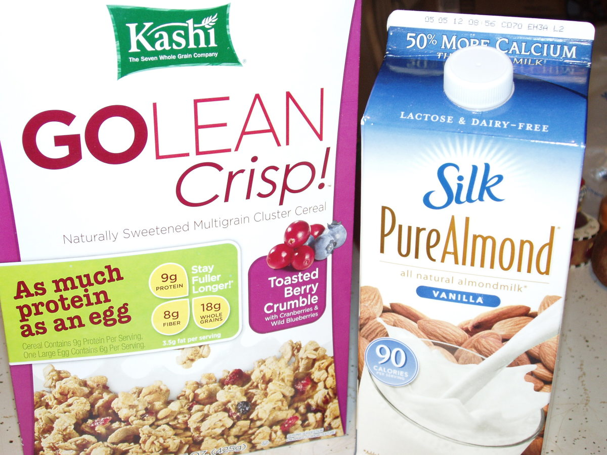 I try to limit my intake of processed foods, Kashi and Silk make products that contain very few processed ingredients.