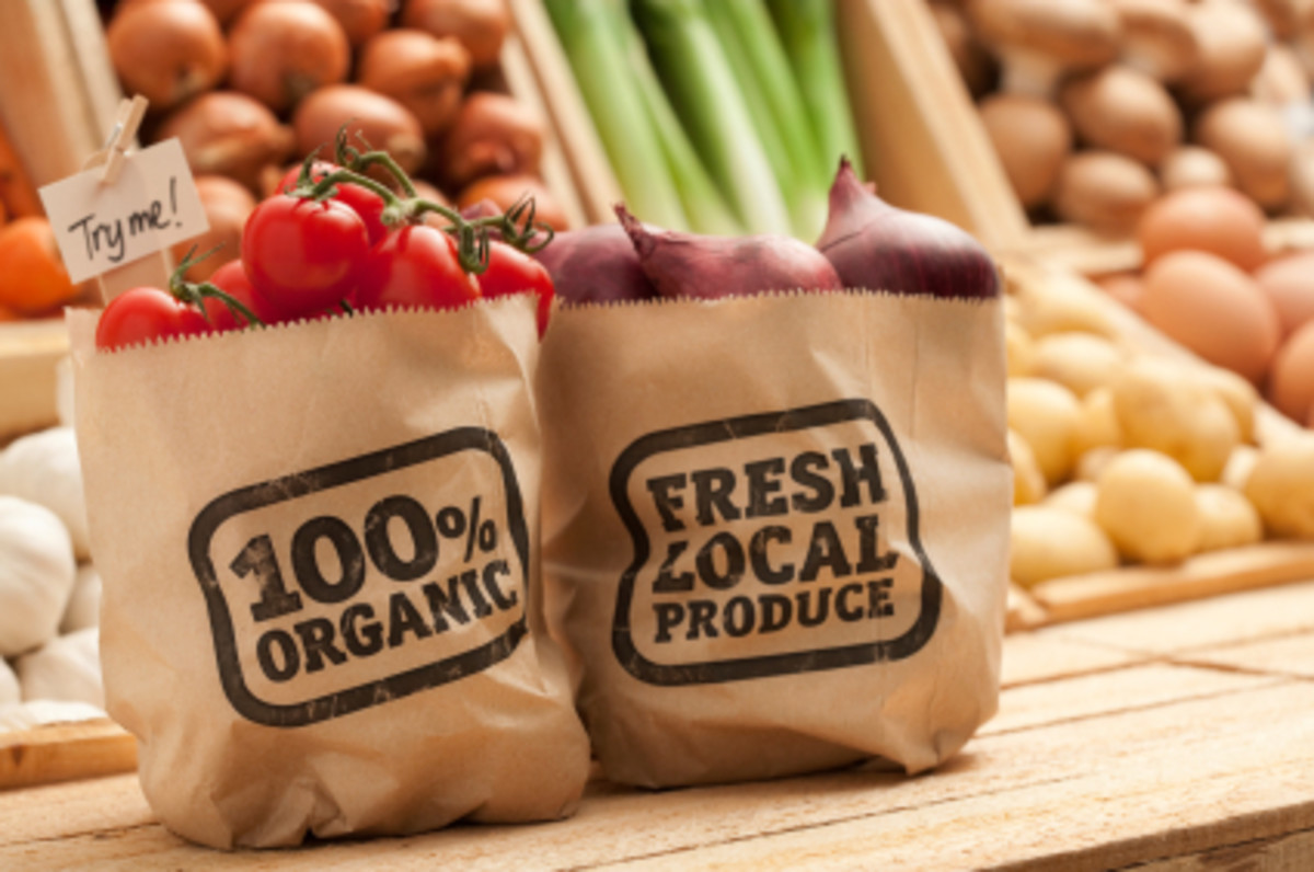 Buying local produce and opting for organic foods are two easy ways to shop earth-friendly.