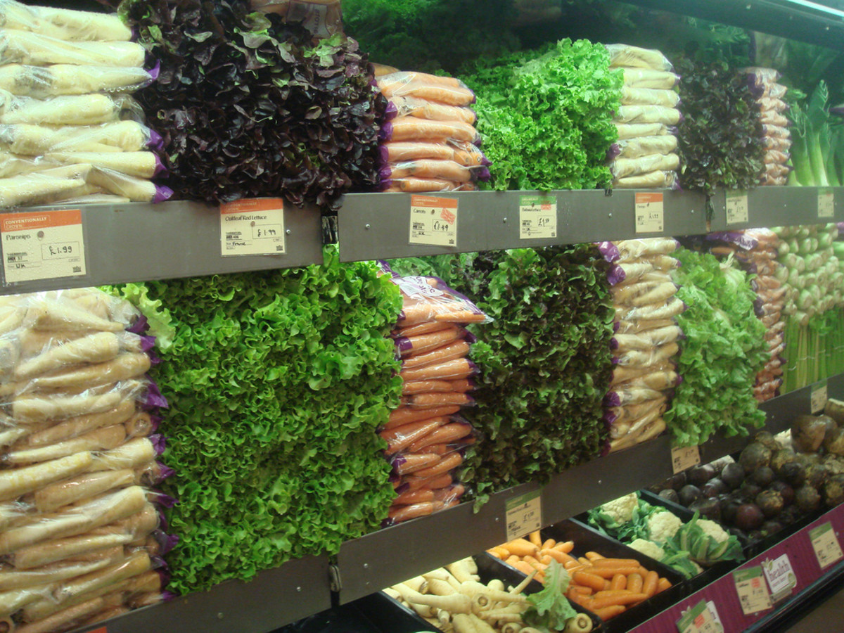 Fresh organic produce at Whole Foods Market