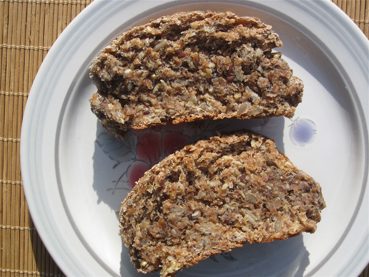 Sprouted grain seed bread with caraway seeds