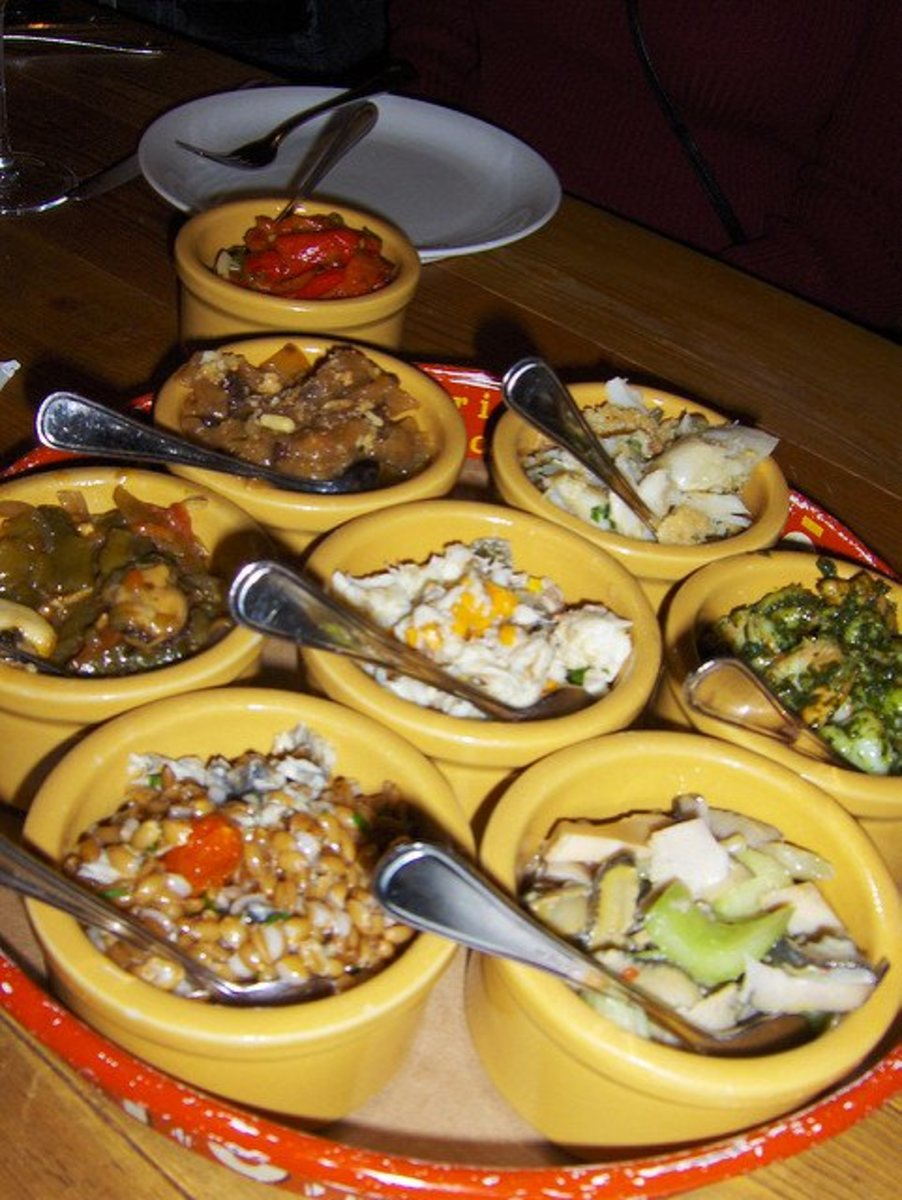 Feast of the Seven Fishes at a restaurant called Otto in New York State. The number seven is a magical number in many societies.