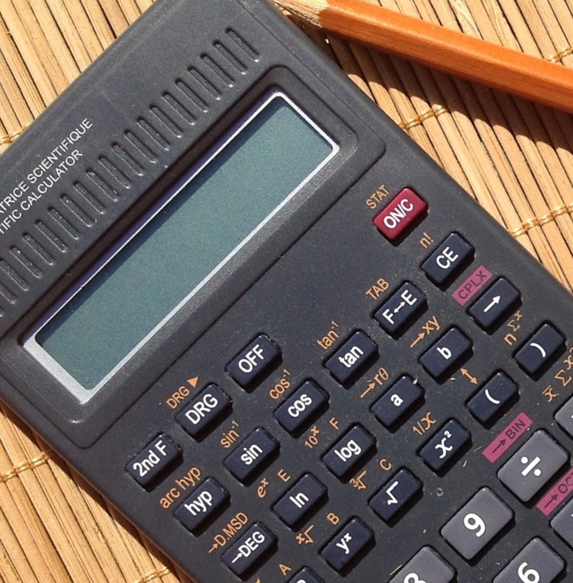 A calculator and a pencil are essential tools for passing a physics exam.