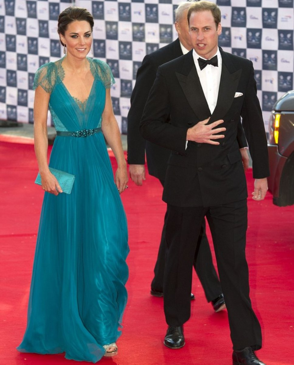 Kate Middleton in Teal Jenny Packham Dress and Jimmy Choo Shoes: Is This the Best Kate Middleton Dress Ever?
