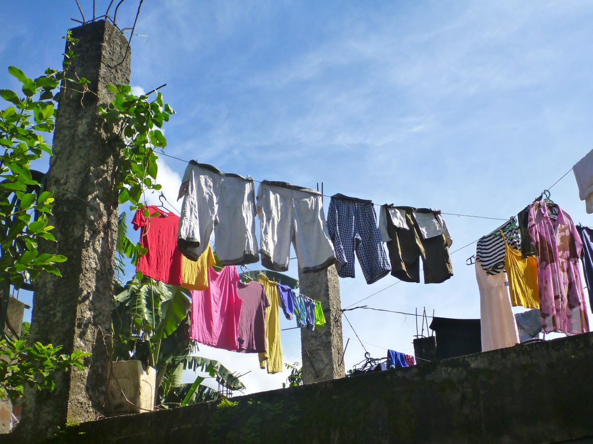 Sunshine is less expensive than electricity and clothes can smell a whole lot fresher.  Try it!