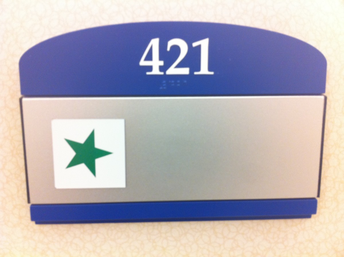 My father's ICU room number while recovering from an 8 hour transplant surgery.  Much of what we chose to communicate to the donor family originated here.