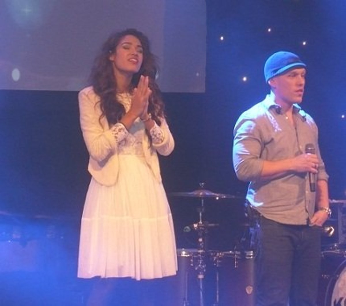 Moriah Peters performs with Kutless during a PULSE event in Bismarck, North Dakota.