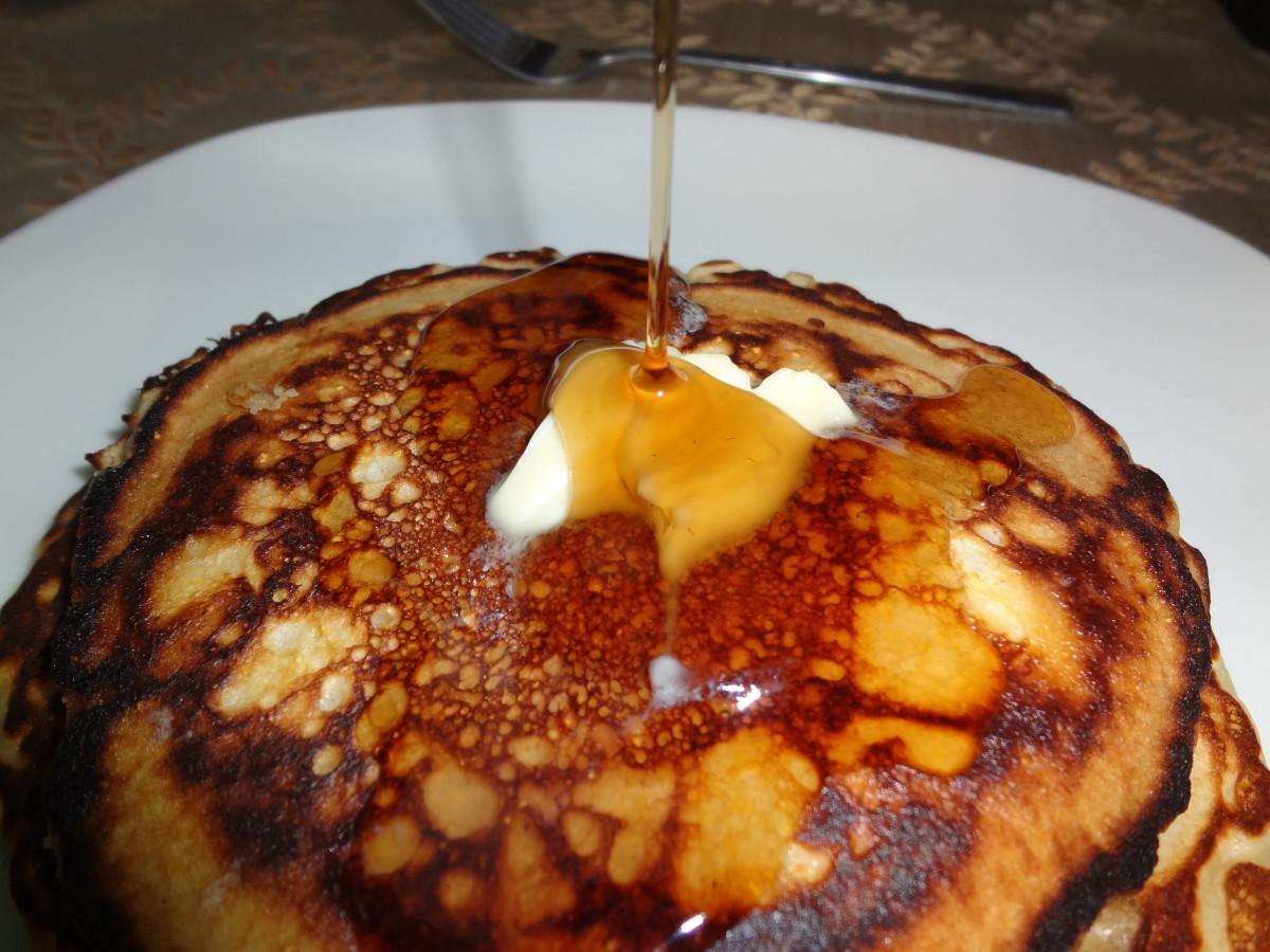 Cracker Barrel–style pancakes.