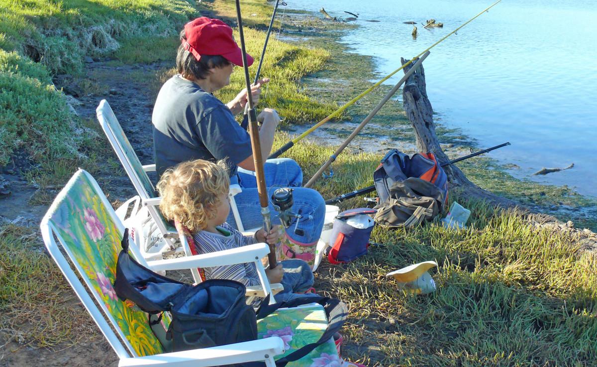Fishing with Zak on Gonubie river