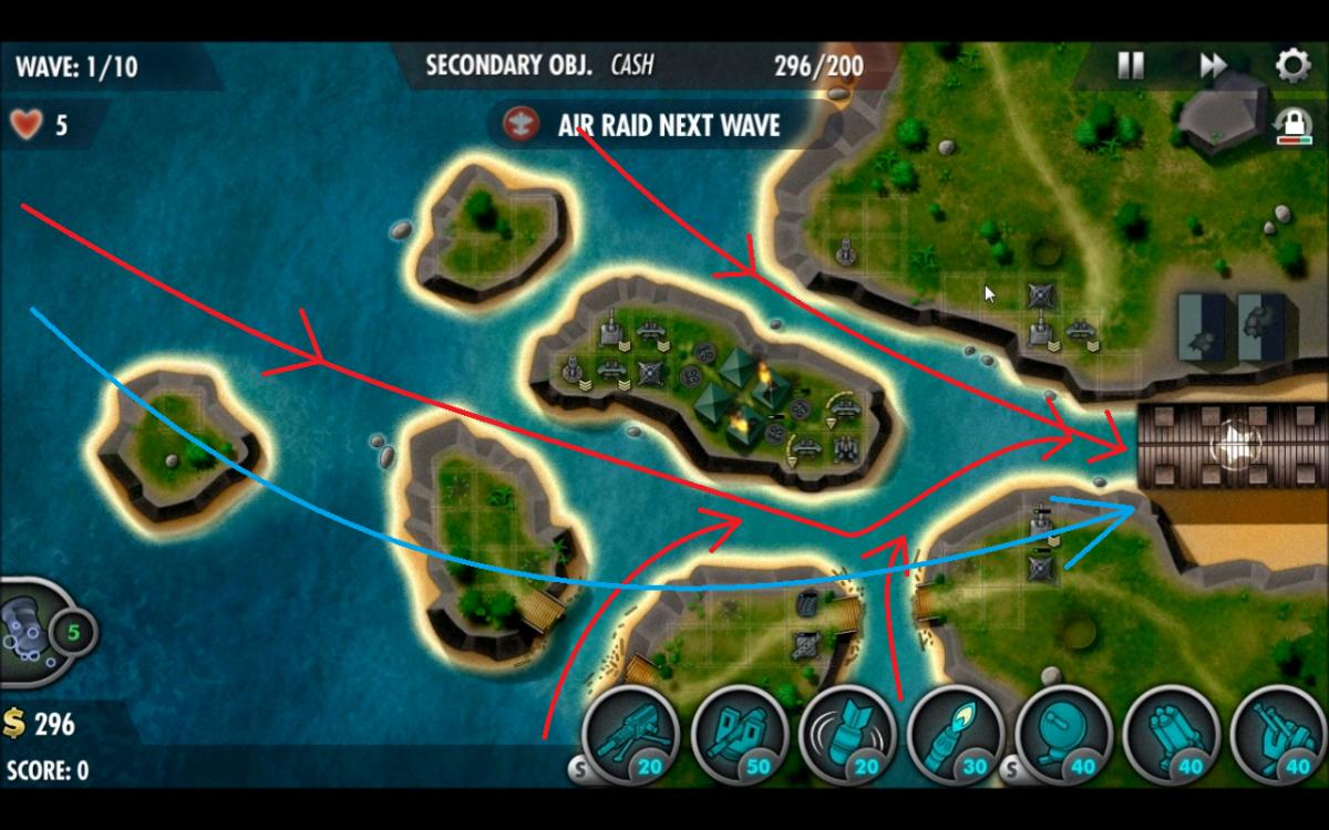 """iBomber Defense Pacific"" Level Guide: Truk Lagoon (Veteran)"