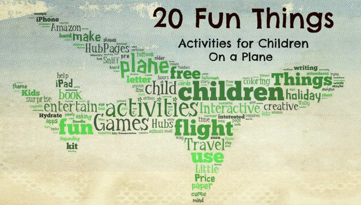 20 Fun Things to Do On A Plane - Creative Activities for Kids