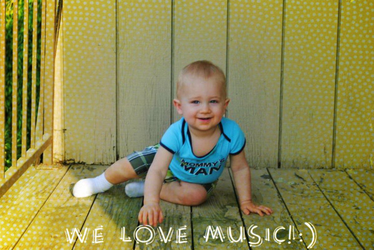 Loving music time.