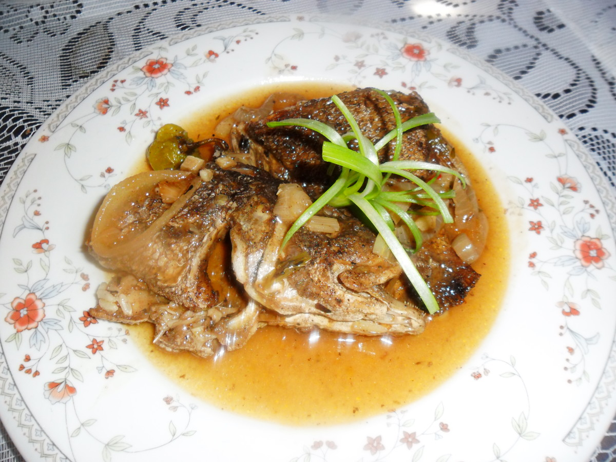 Jamaican Recipes: Brown Stew Fish