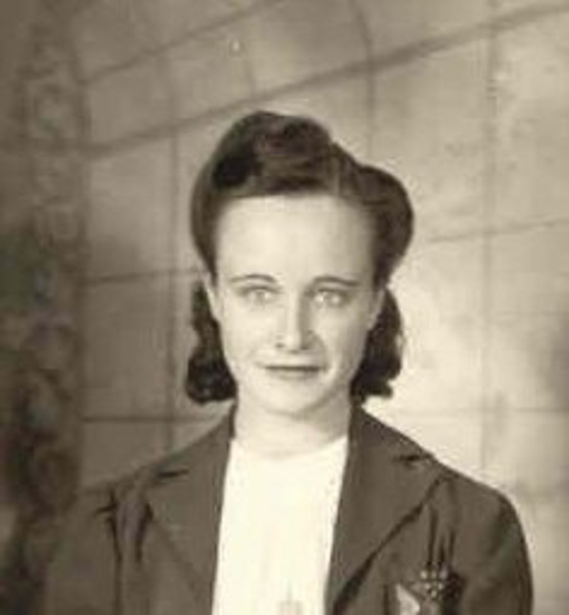 Mother as a young woman during World War II.