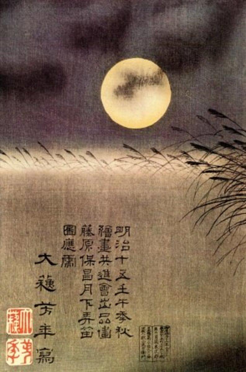 Painting by Japanese ukiyo-e master Tsukioka Yoshitoshi (1839-1892).