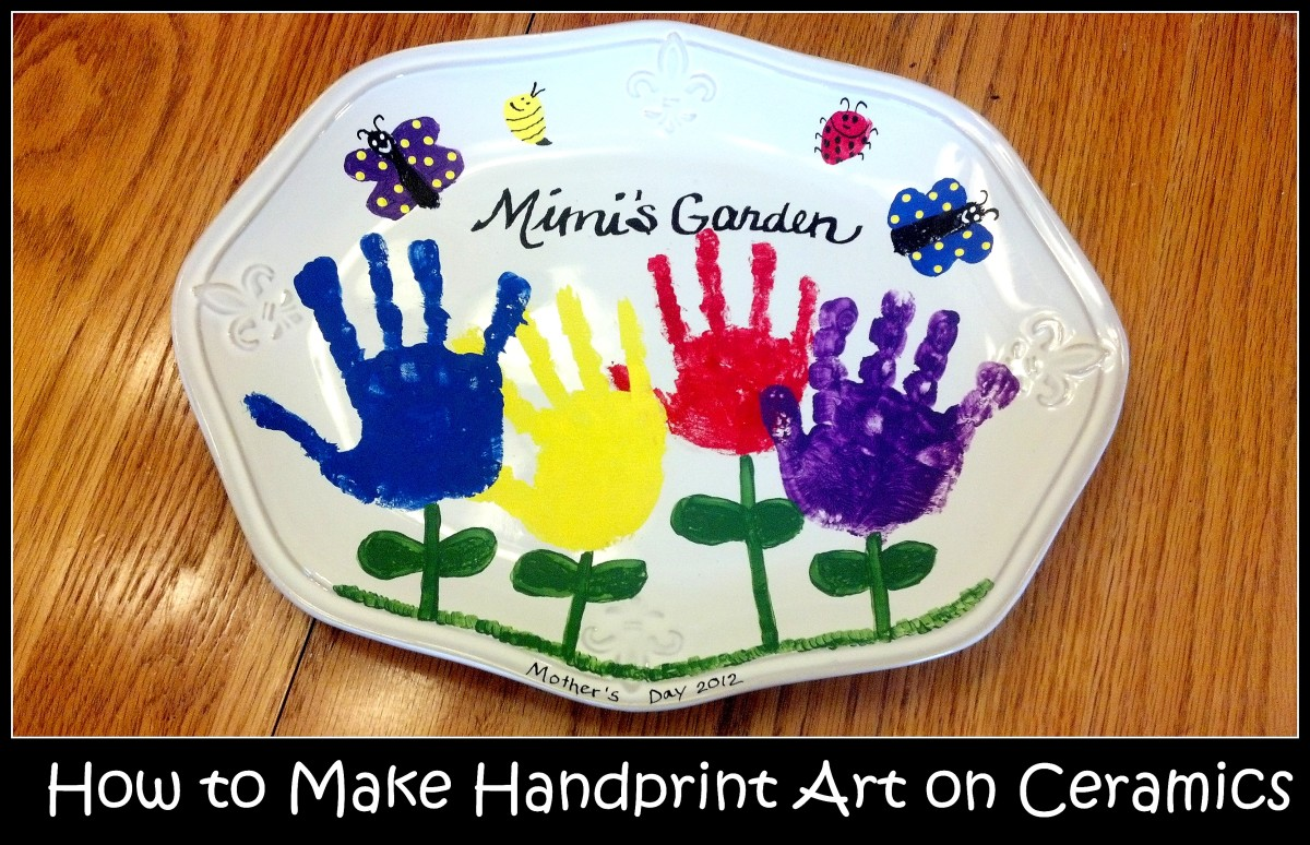 How To Make Handprint Art On Ceramics Feltmagnet