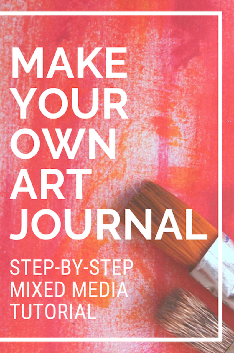 How to Make an Art Journal Page (Mixed Media Step-By-Step)