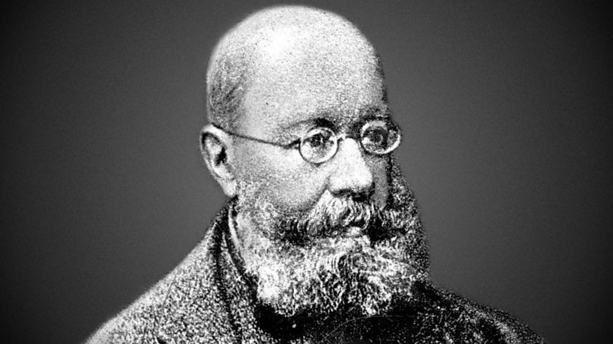 Portrait of Edward Lear.