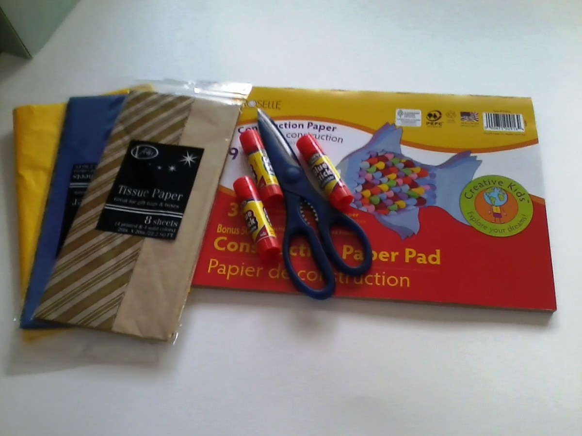 Paper mosaic supplies