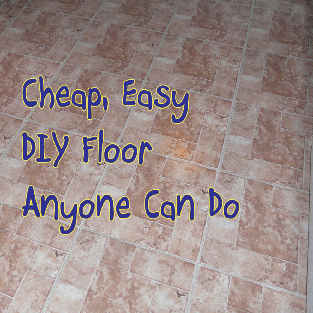 How to Lay Peel and Stick Vinyl Tile Flooring