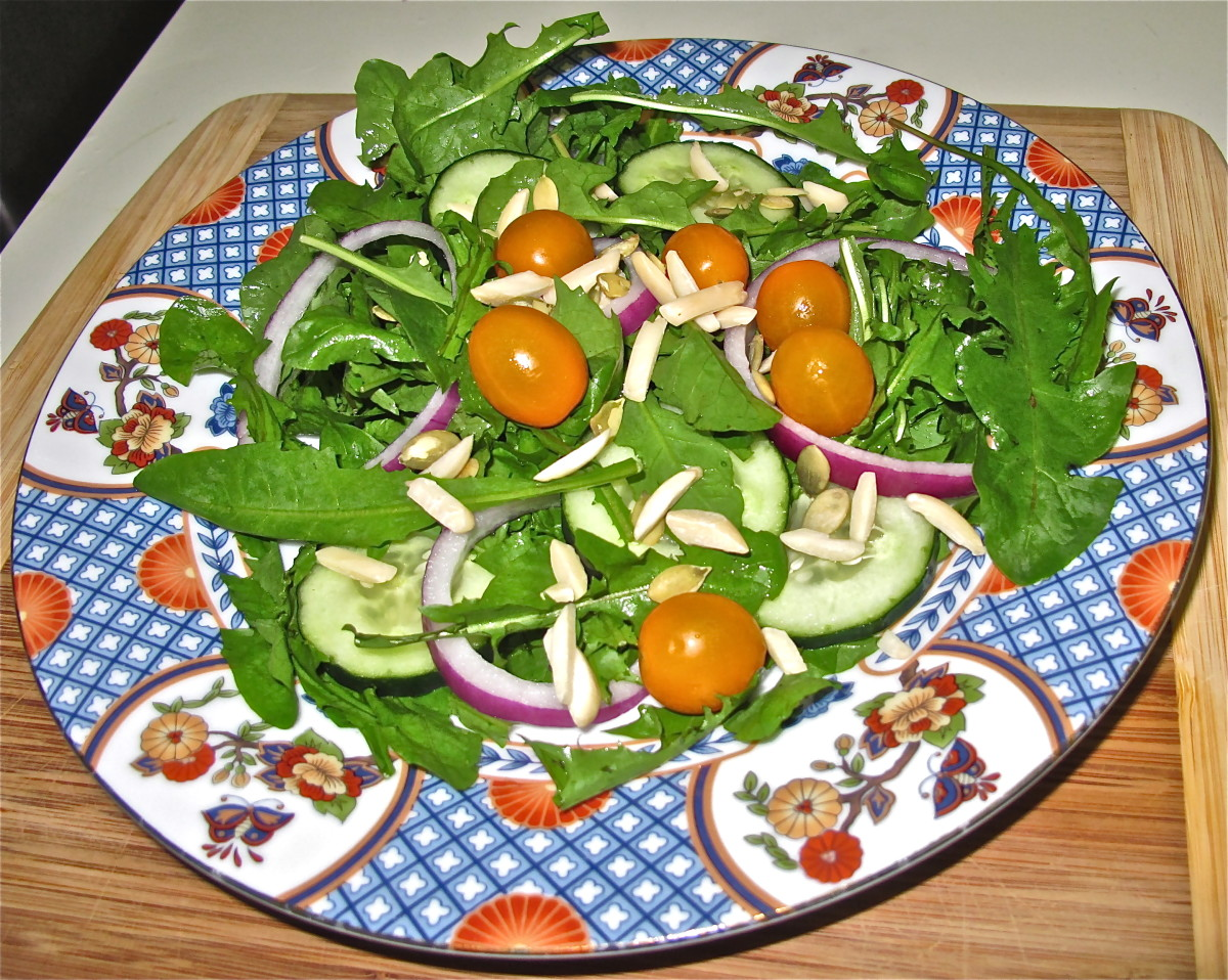 Dandelion salads are attractive and full of nutrition