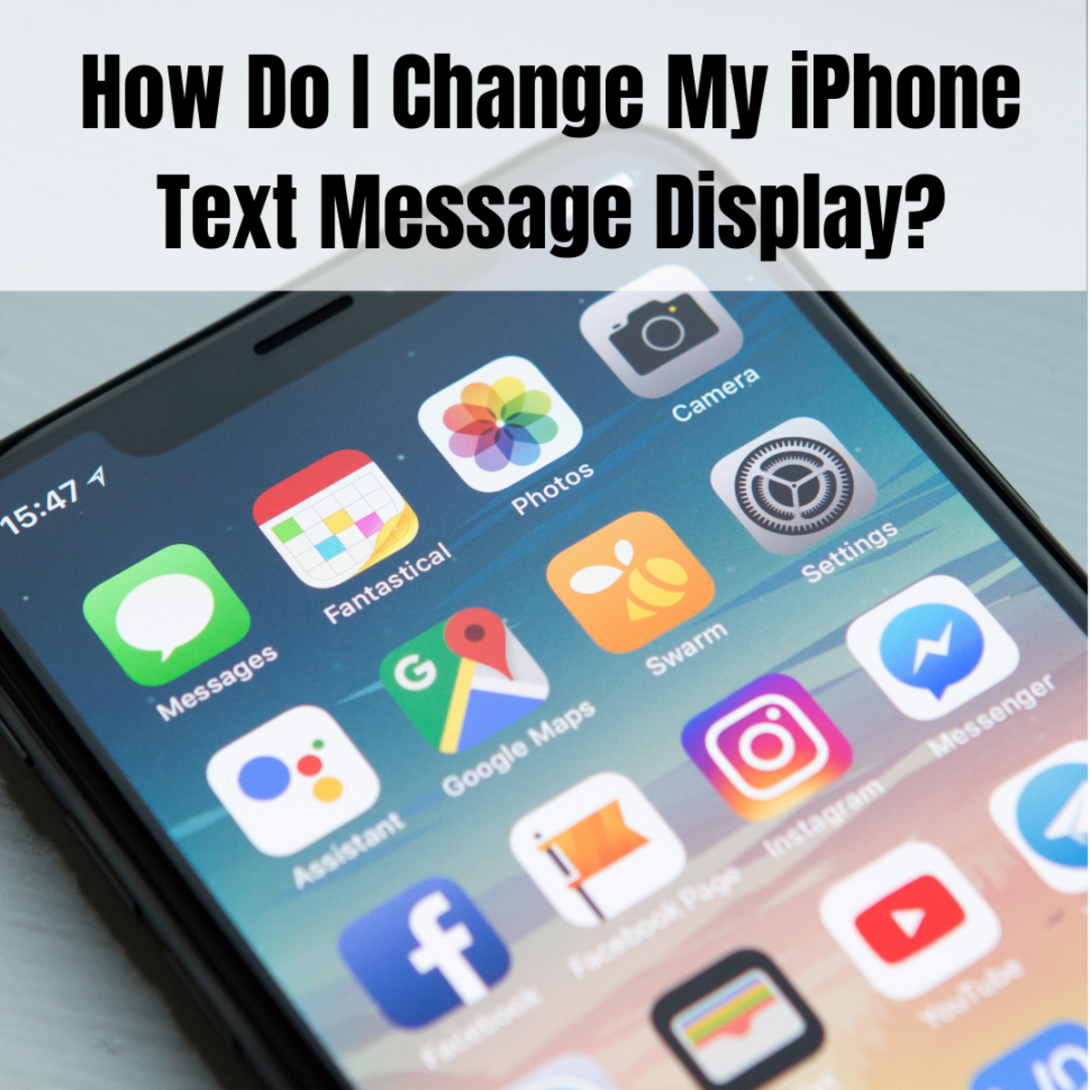 Learn how to change the text message notifications on your iPhone.