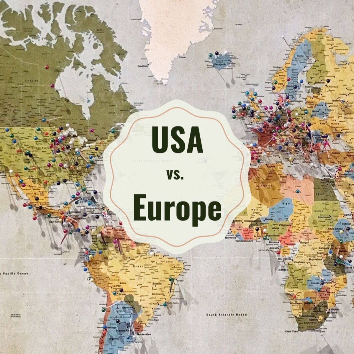 From portions to exercise habits, there are some major differences between Europe and the USA.