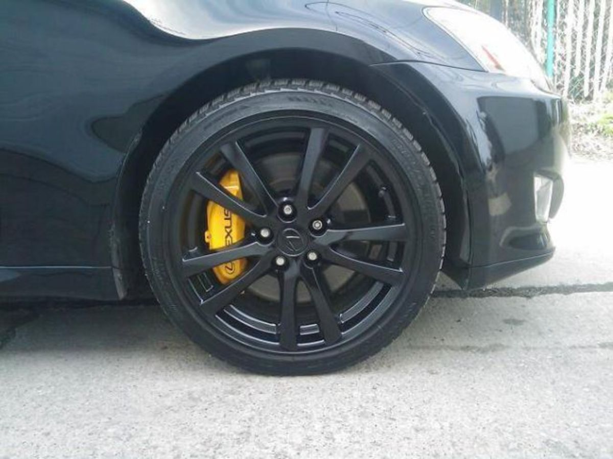 Wheels coated with black Plasti Dip