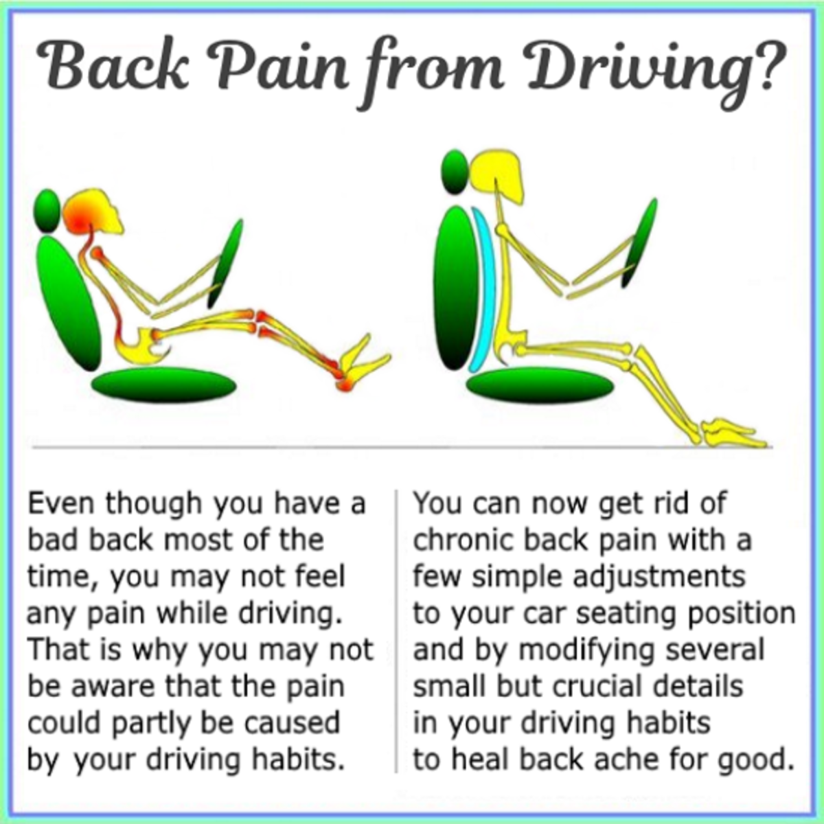 how to get rid of neck pain from driving