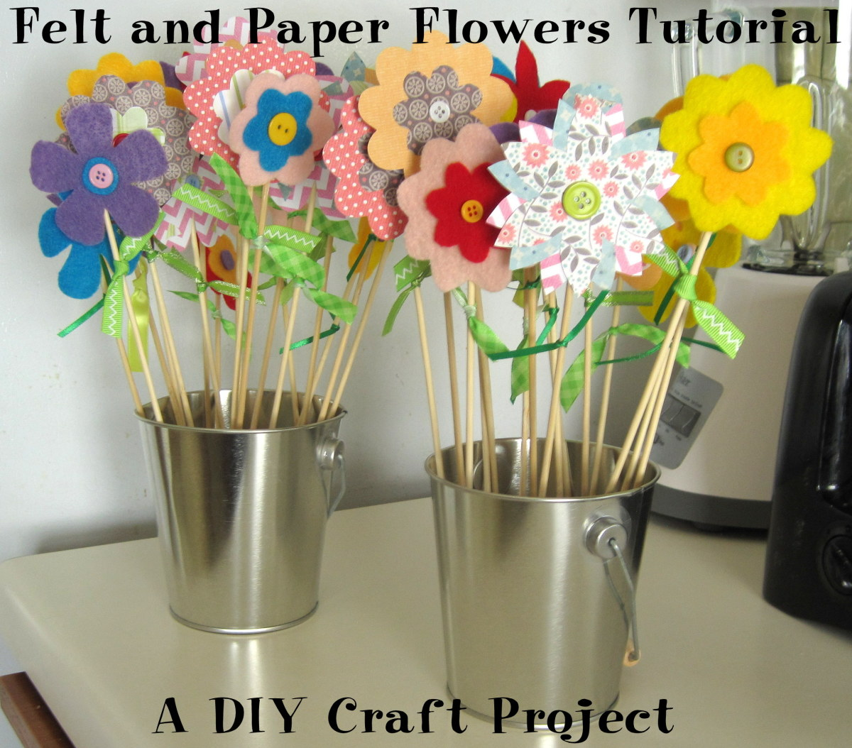 Felt And Paper Flowers Tutorial Diy Craft Project Feltmagnet