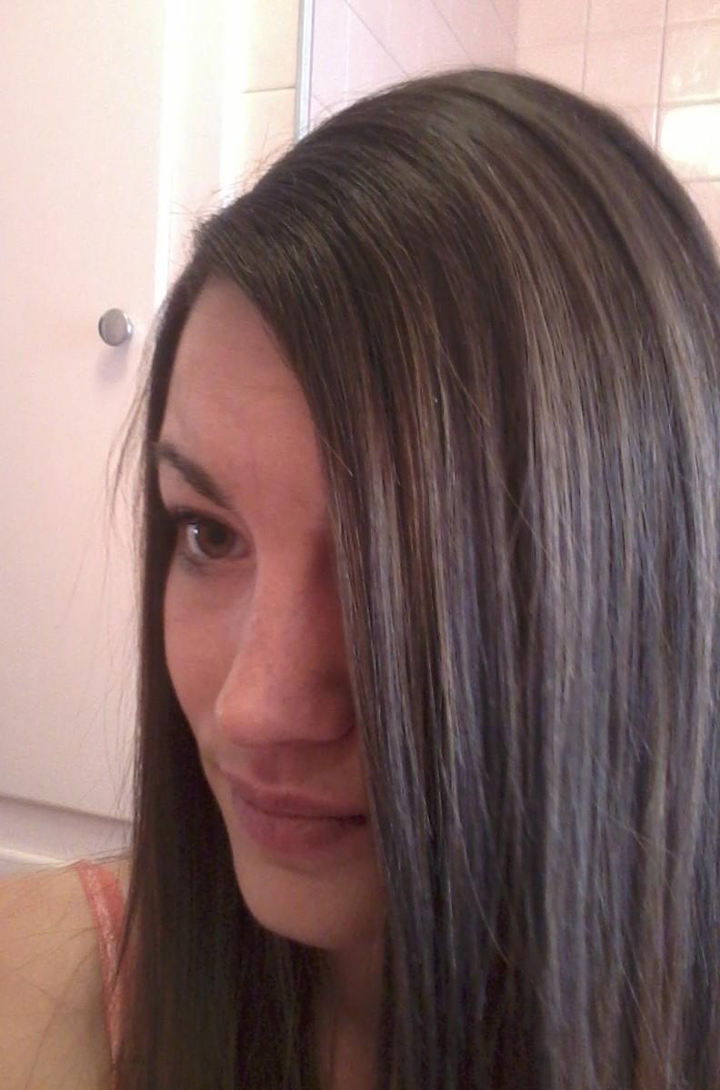 My hair before streaking