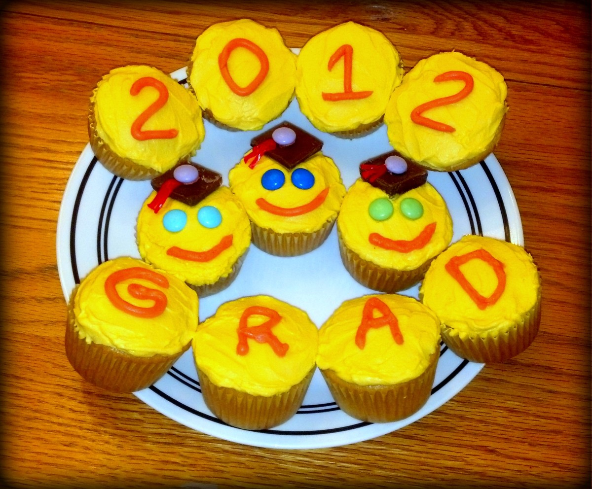 Graduation cupcakes for my son's kindergarten class.