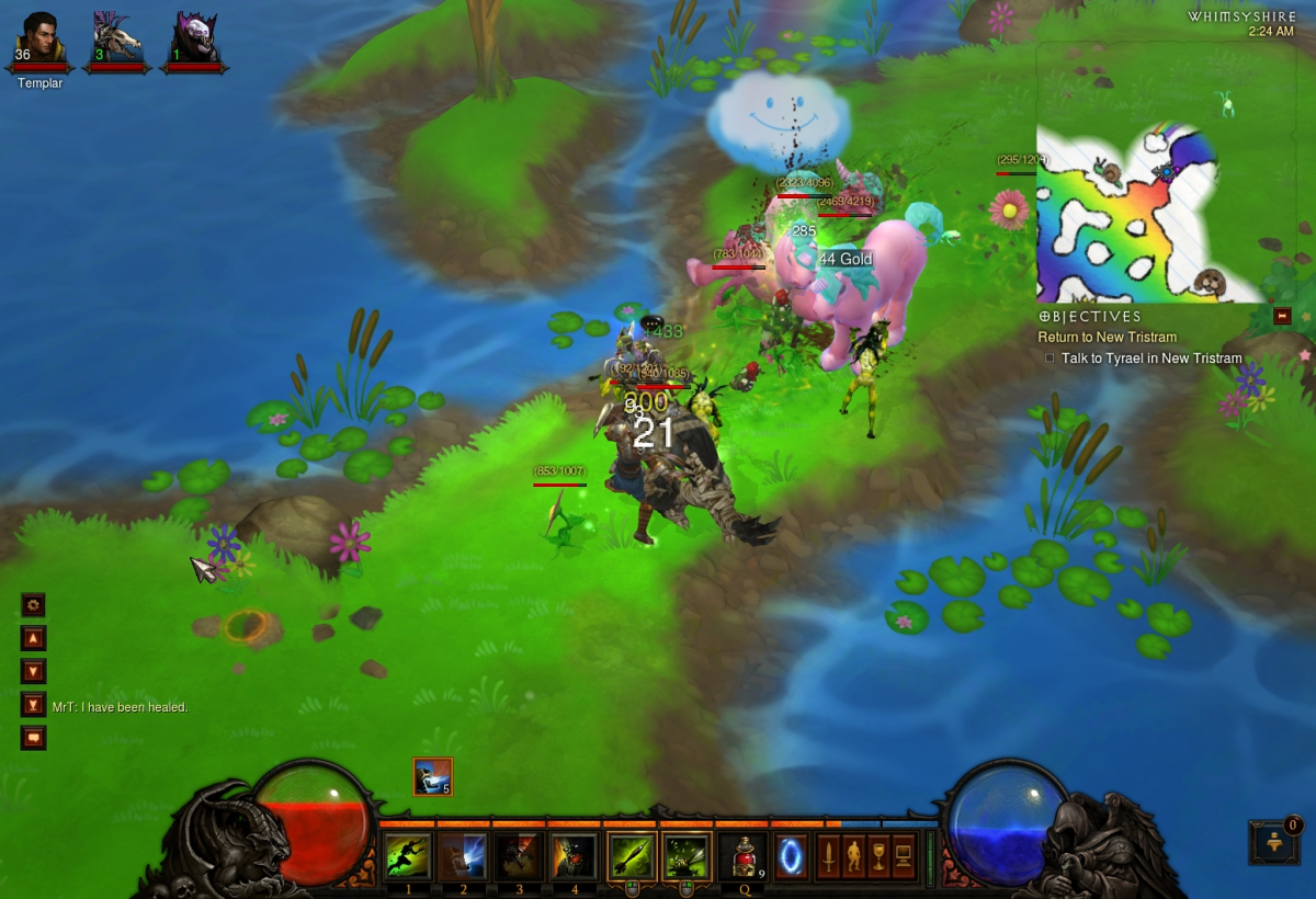Whimsyshire, the secret level in Diablo 3.