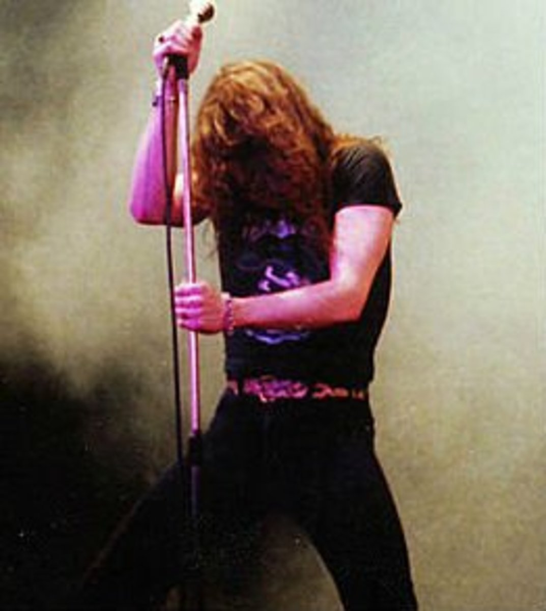 Coverdale onstage with Whitesnake in 1981.