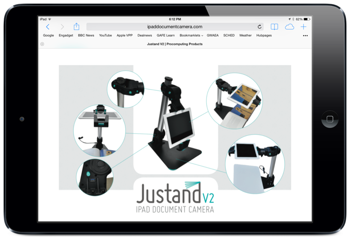 The Justand v2 iPad Document Camera