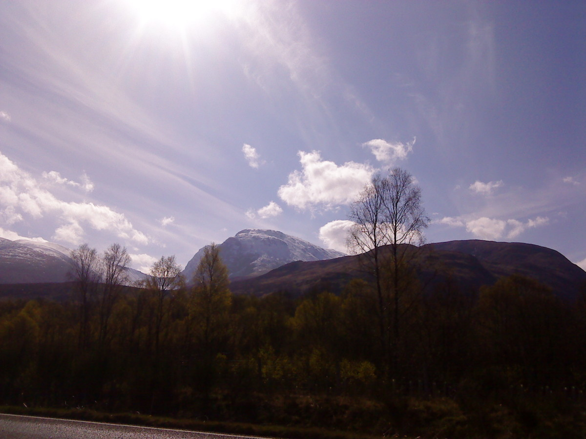 The distant summit of Ben Nevis.