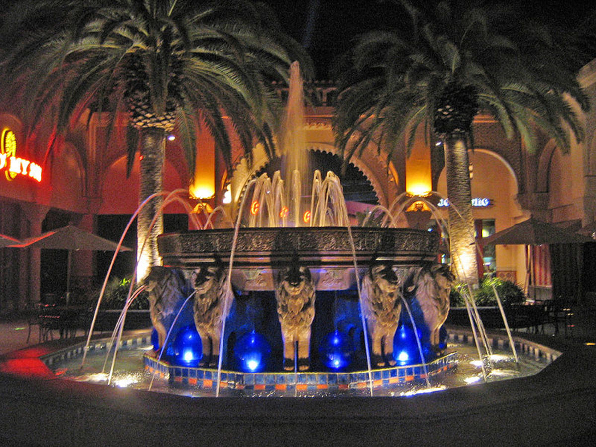 Irvine Spectrum Center shopping mall in Irvine, California
