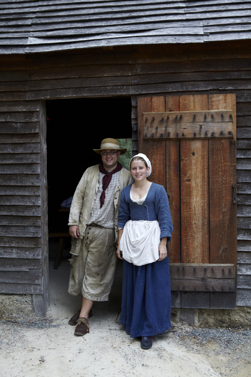 Life in a basic, early settlement or frontier structure.