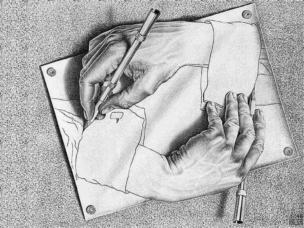 Escher: Hand Draws Hand