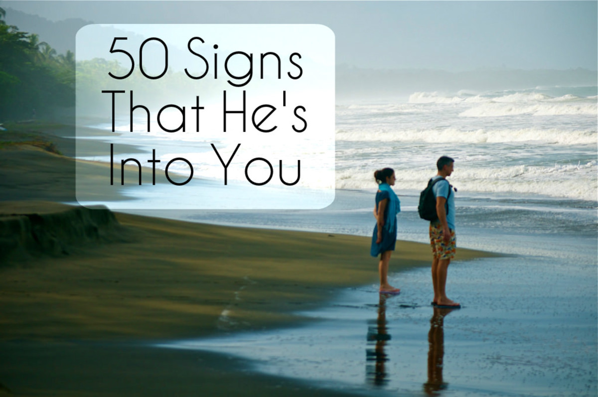 signs to see if he likes you