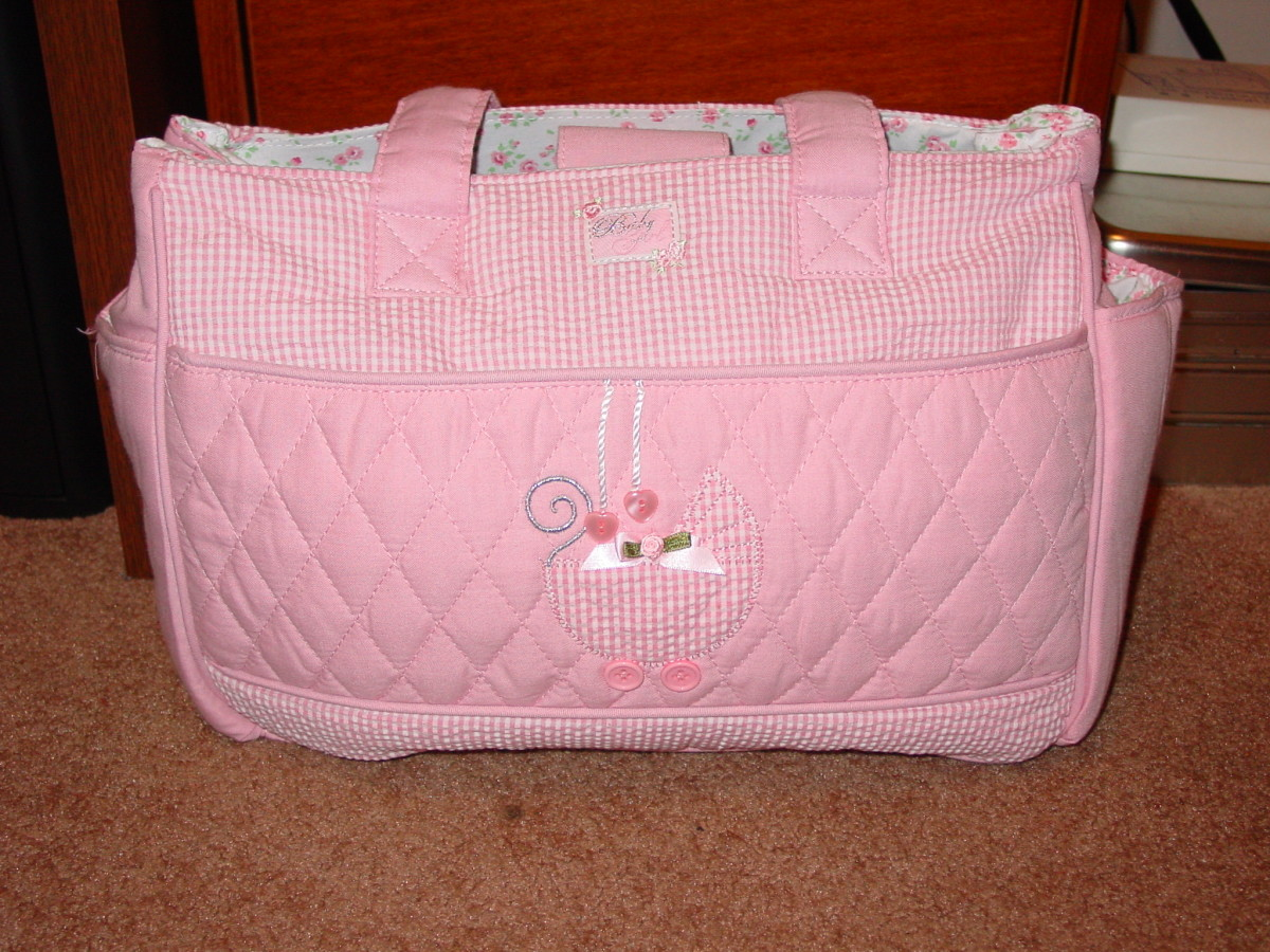 A baby bag can organize all your diaper and baby needs.