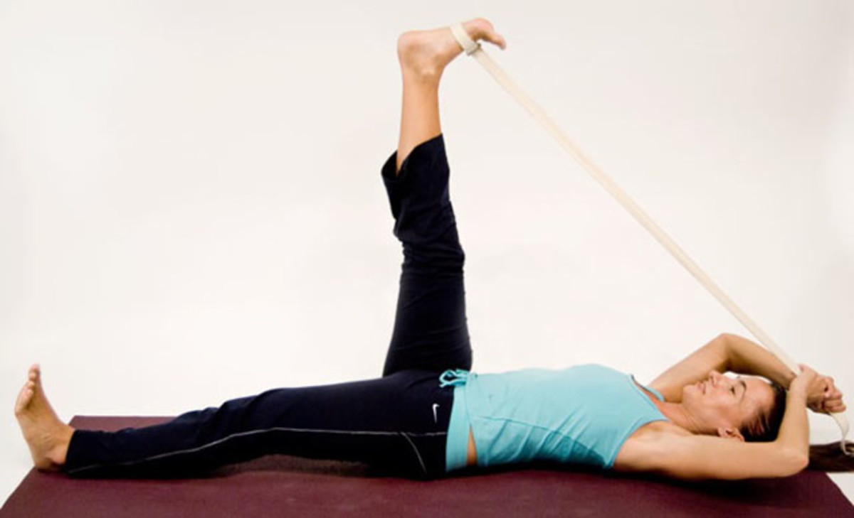 Stretching the knee and hip joint