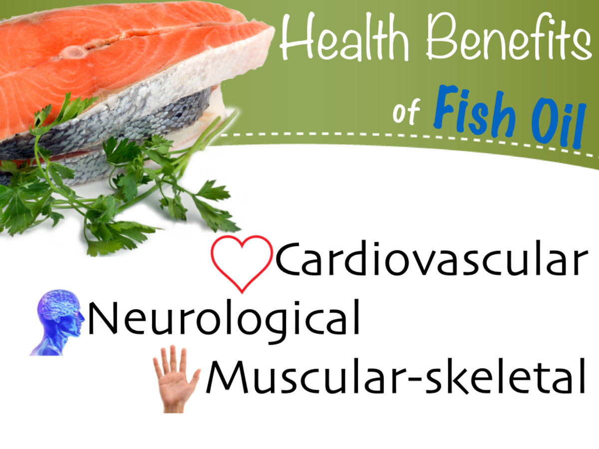 Studies have shown fish oil improves cardiovascular health, cognitive function and reduces the risk of metabolic syndrome. It also decreases the symptoms of Rheumatoid Arthritis.