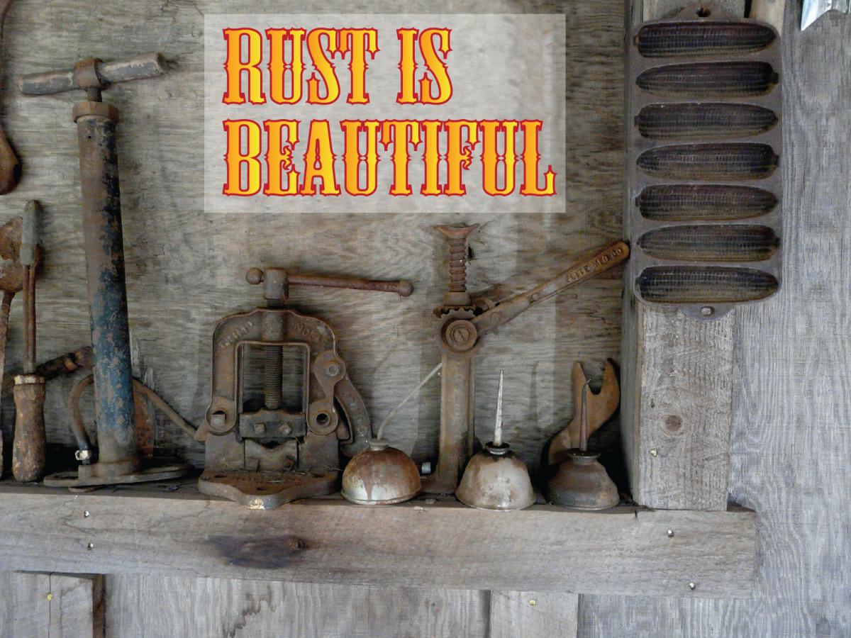 Unique Yard Art: Rust Is Beautiful