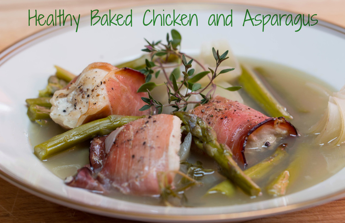 Healthy Baked Chicken and Asparagus