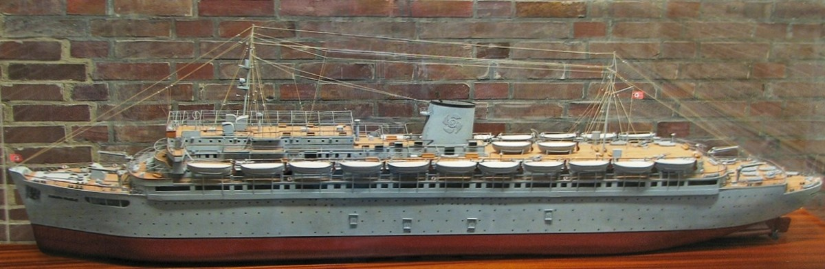 "Model of ""Wilhelm Gustloff"" ."