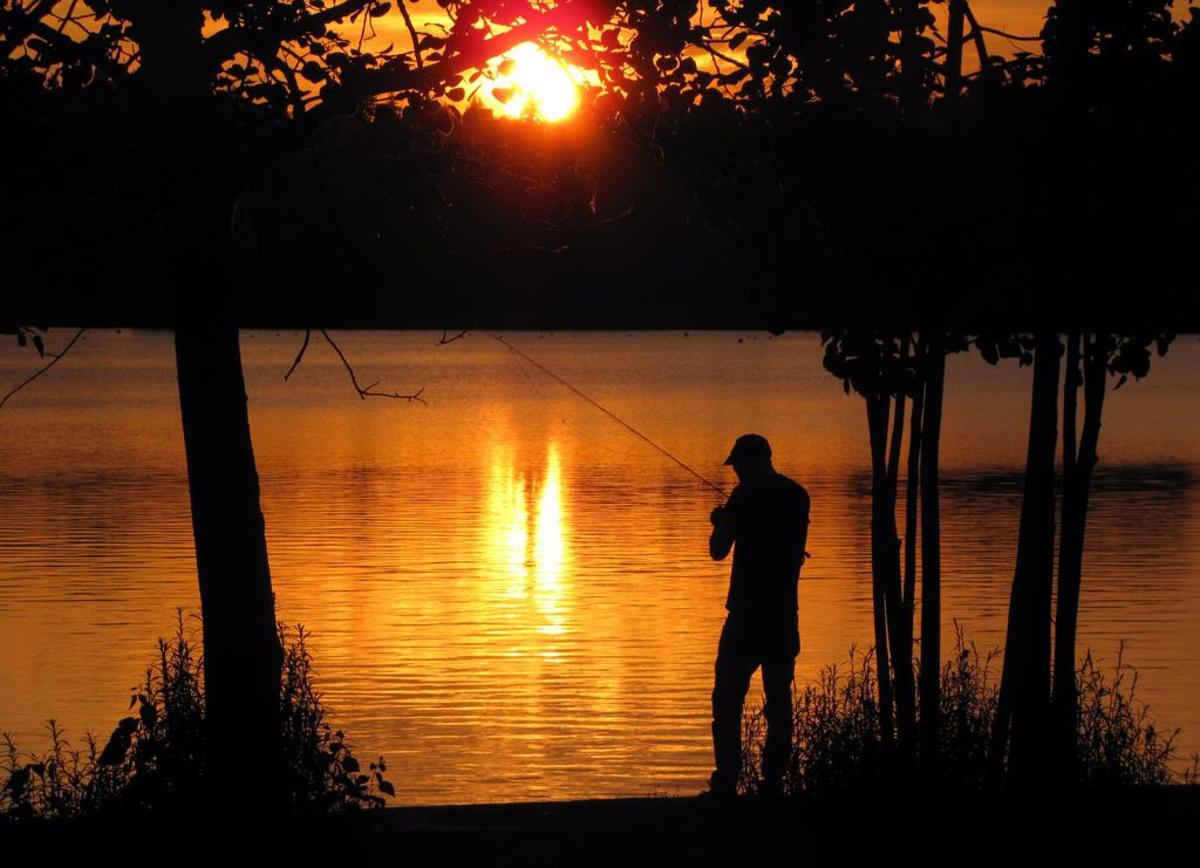 Sunset fishing on Green Lake
