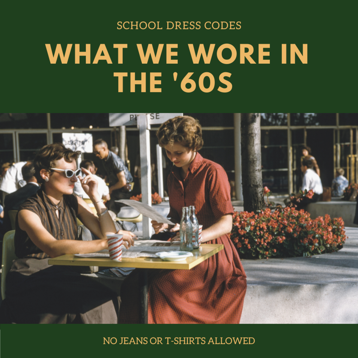 Learn how fashion and school dress codes  in the 1960s and 1970s differ from today.