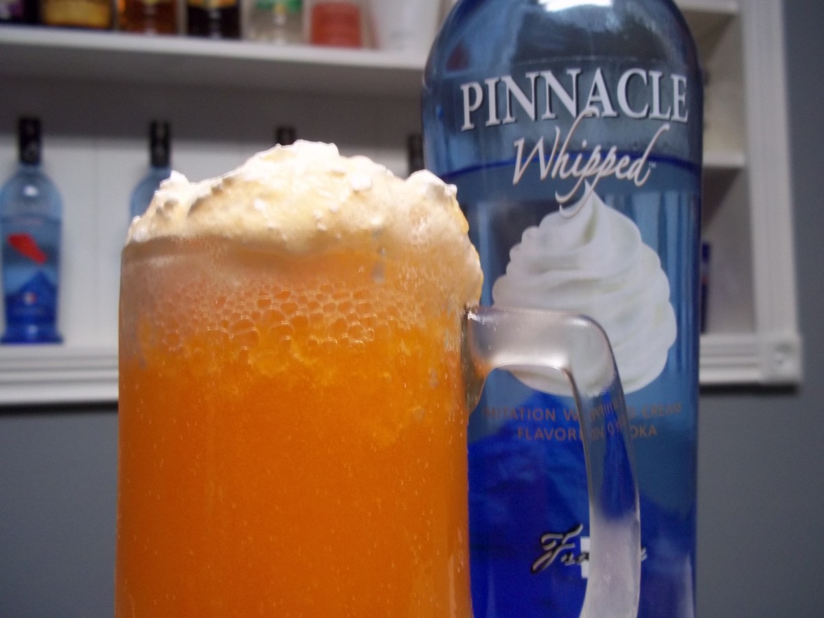 Pinnacle's Whipped vodka makes a delicious orange creamsicle cocktail!