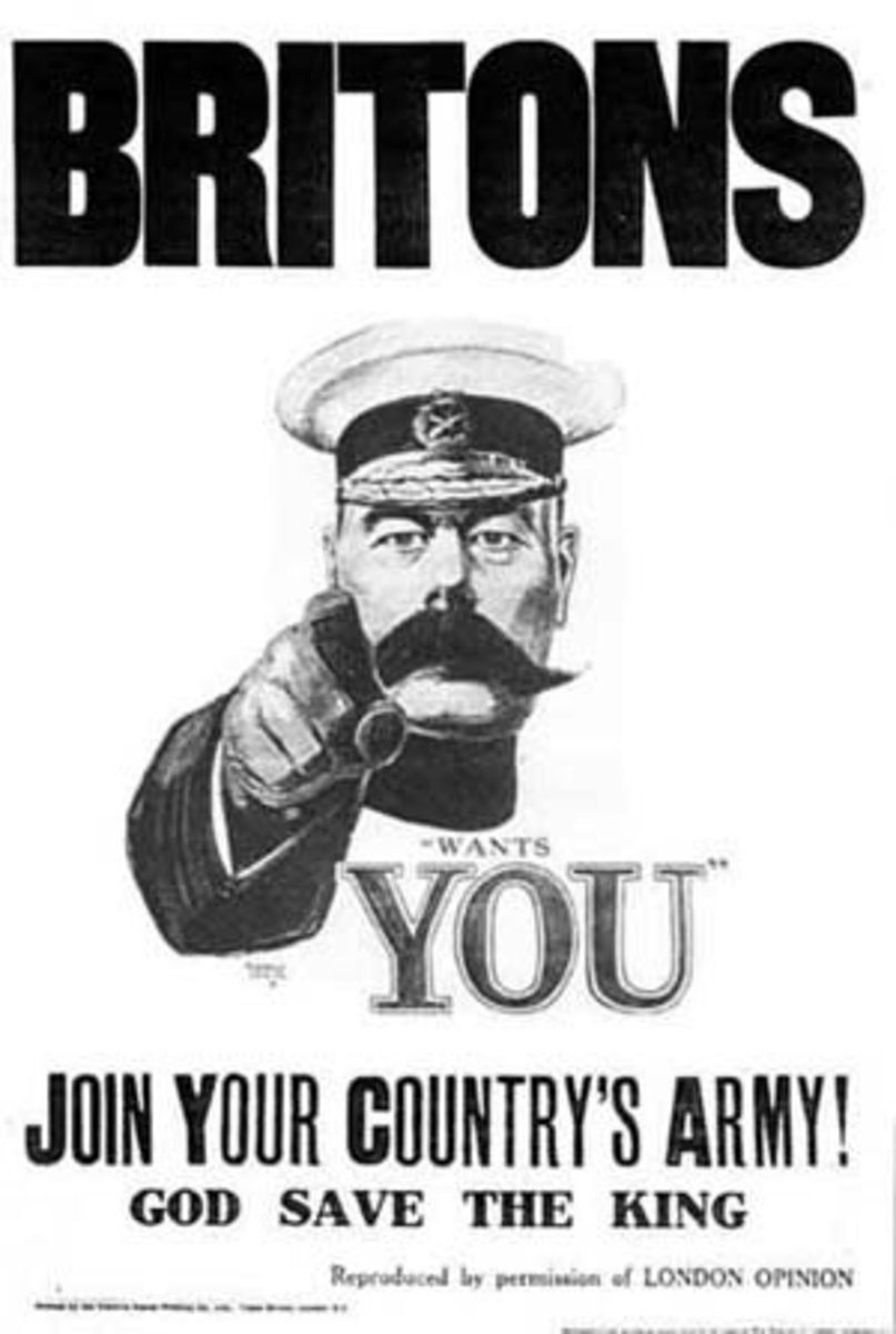 The most famous and enduring recruitment poster image from WW1. Designed by Alfred Leete.